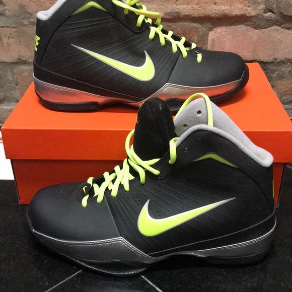 ce8a62f91e70 Men s Black and Neon High Top Sneaker